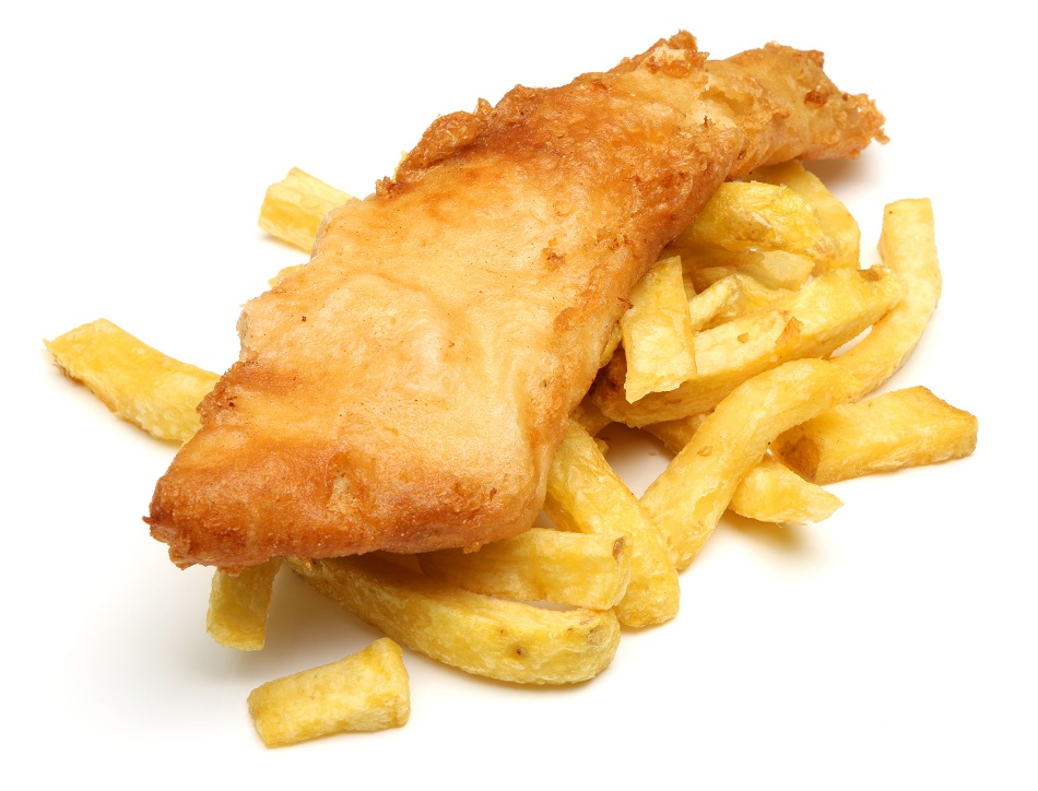 Fish and chips are a delicious meal of fried fish and potato strips ...